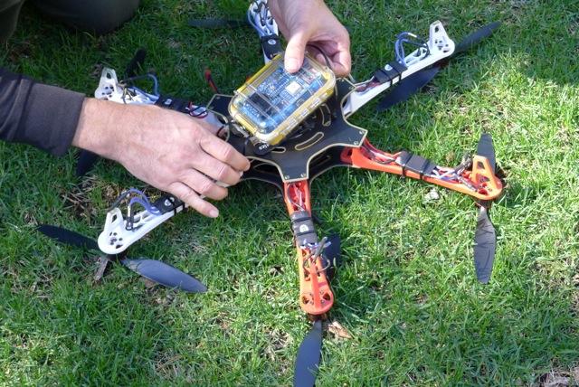 Geigerteller op drone