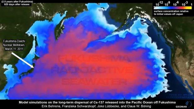 fukushima radiation pacific ocean map Fukushima Across The Pacific Safecast fukushima radiation pacific ocean map