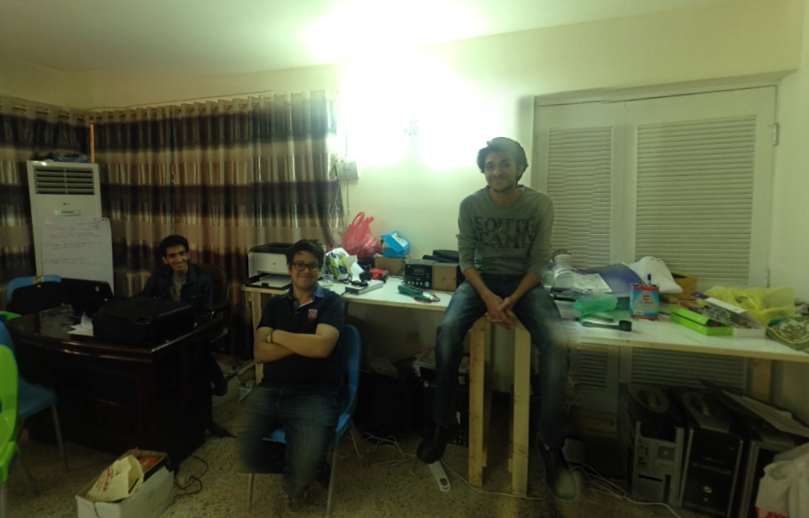 Some of the core team at Fikra Space: Nael, Jeff & Ahmed