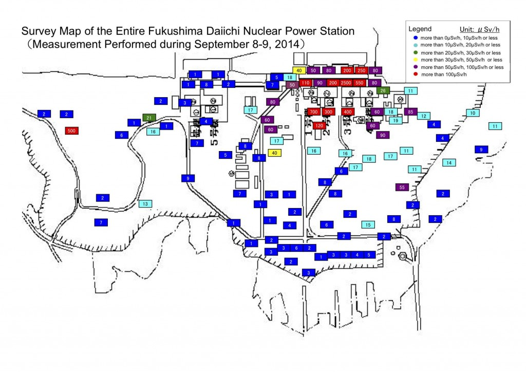 Survey Map of the Entire Fukushima Daiichi Nuclear Power Station  (Measurement Performed during September 8-9, 2014)f1-sv2-20140924-e