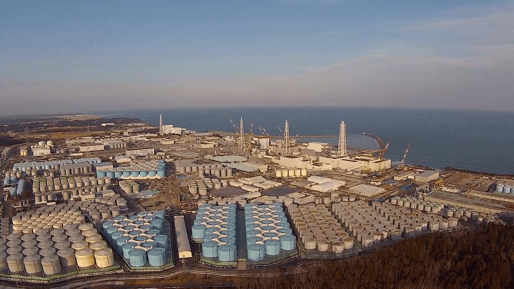 Aerial image of Fukushima Daiichi
